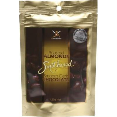 Dark Choc Almonds 125g - DR SUPERFOODS