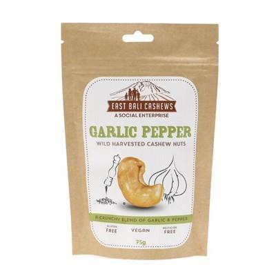 Garlic Pepper 75g - EAST BALI CASHEWS