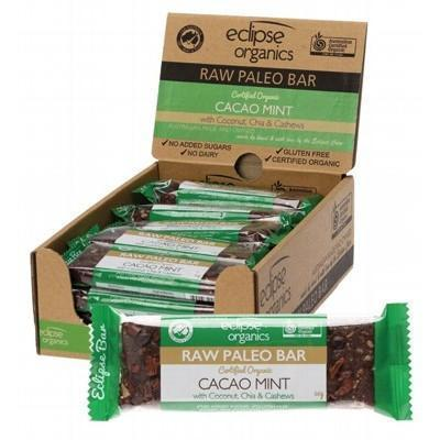 Paleo Bar Cacao Mint 20x50g - ECLIPSE ORGANICS