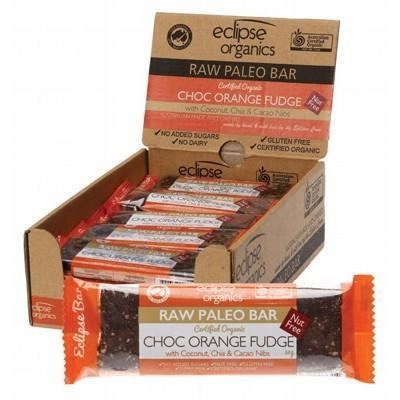 Paleo Bar Choc Orange 20x50g - ECLIPSE ORGANICS