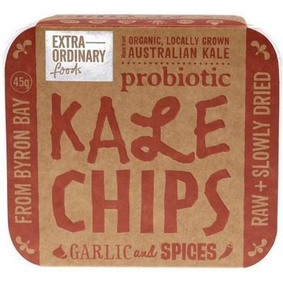 Garlic & Spices Kale Chips 45g - EXTRAORDINARY FOODS
