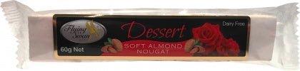 Flying Swan Soft Almond Dessert Nougat Bar 60g New