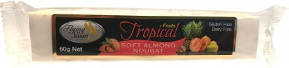 Flying Swan Soft Almond Tropical Nougat Bar 60g New