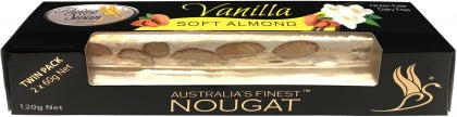 Flying Swan Soft Almond Vanilla Nougat Bar 120g New