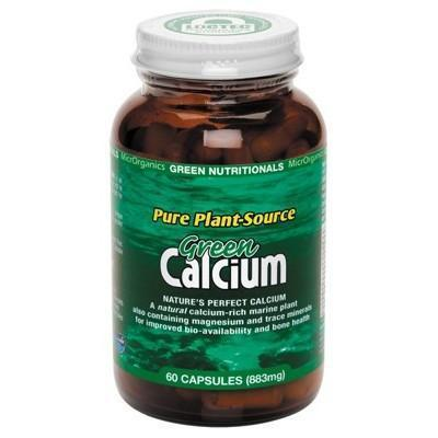 Green Calcium Capsules 60 Caps - GREEN NUTRITIONALS