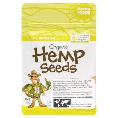 Hemp Seeds 114g - HEMP FOODS AUSTRALIA