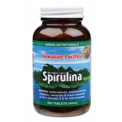 Spirulina Tablets 200 tabs - GREEN NUTRITIONALS