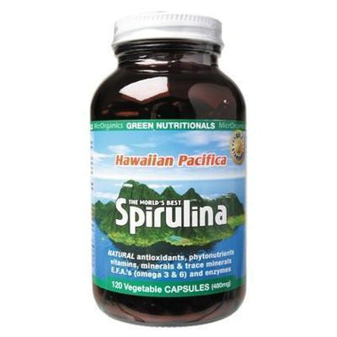 Spirulina Capsules 120 caps - GREEN NUTRITIONALS
