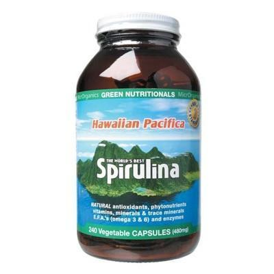 Spirulina Capsules 240 caps - GREEN NUTRITIONALS