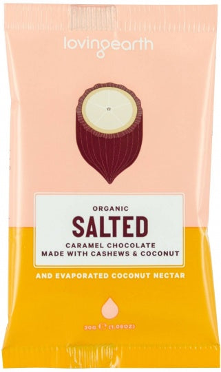 Loving Earth Organic Salted Caramel Chocolate 16x30g