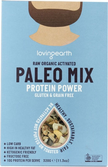Loving Earth Raw Organic Paleo Mix - Protein Power G/F 320g