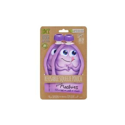 Reusable Squeeze Pouch - Purple 2x130ml - LITTLE MASHIES