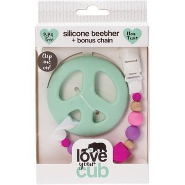 Silicone Teether- Mint Peace - LOVE YOUR CUB