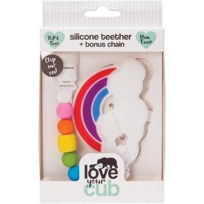 Silicone Teether-Rainbow - LOVE YOUR CUB