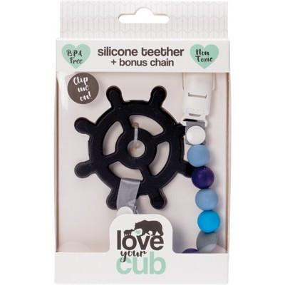 Silicone Teether- Ship Wheel - LOVE YOUR CUB
