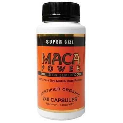 Maca Capsules 240 caps - POWER SUPER FOODS