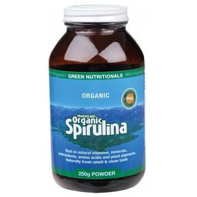 Organic Spirulina Powder 250g - GREEN NUTRITIONALS