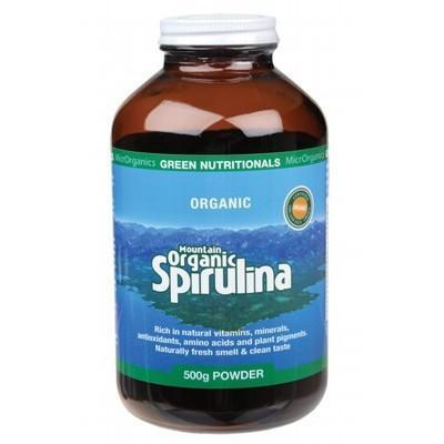 Organic Spirulina Powder 500g - GREEN NUTRITIONALS