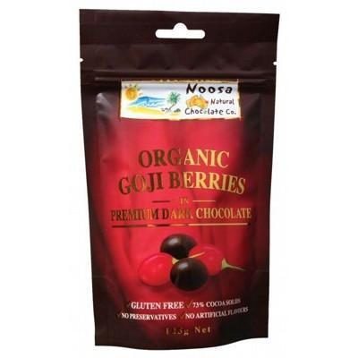 Dark Choc Goji Berries 125g - NOOSA NATURAL CHOC. CO.