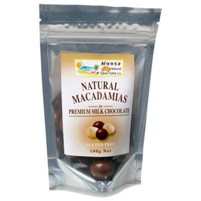 Milk Choc Macadamias 100g - NOOSA NATURAL CHOC. CO.