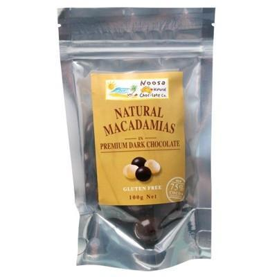 Dark Choc Macadamias 100g - NOOSA NATURAL CHOC. CO.