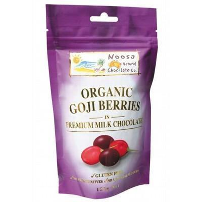 Milk Choc Goji Berries 125g - NOOSA NATURAL CHOC. CO.
