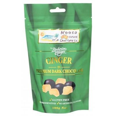 Dark Choc Ginger 100g - NOOSA NATURAL CHOC. CO.
