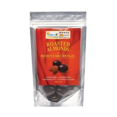 Dark Chocolate Almonds 100g - NOOSA NATURAL CHOC. CO.