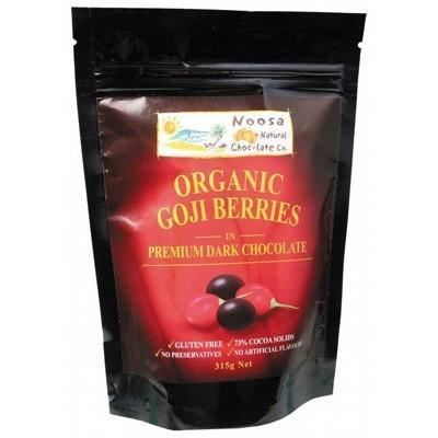 Dark Choc Goji Berries 315g - NOOSA NATURAL CHOC. CO.