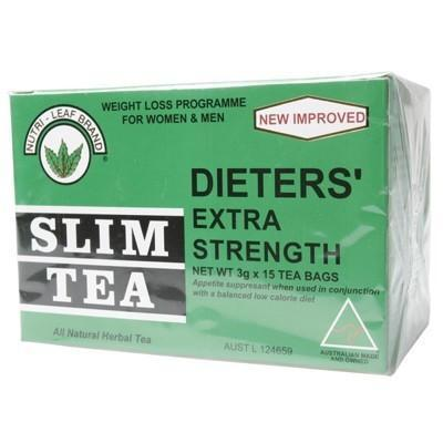 Slim Tea Extra Strength Tea Bags 15 bags - NUTRI-LEAF