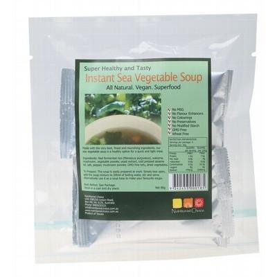 Instant Sea Vegetable Soup Pack 4x20g - NUTRITIONIST CHOICE
