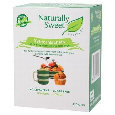 Xylitol Sachets 40 sachets - NATURALLY SWEET