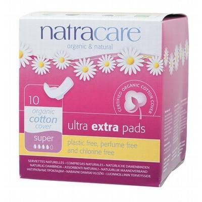 Ultra Extra Pads Wings Super 10 - NATRACARE