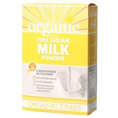 Full Cream Milk Powder 350g - ORGANIC TIMES