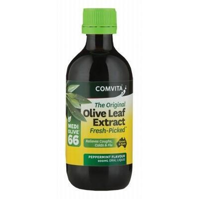 Peppermint Olive Leaf Extract 200ml - COMVITA - OLIVE LEAF EXTRACT