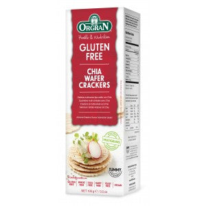 Orgran Multigrain Wafer Crackers w/Chia G/F 100g