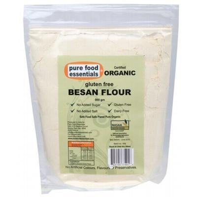 Besan Flour 500g - PURE FOOD ESSENTIALS