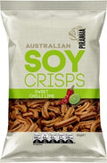 Piranha Soy Crisps Sweet Chilli Lime 100g New