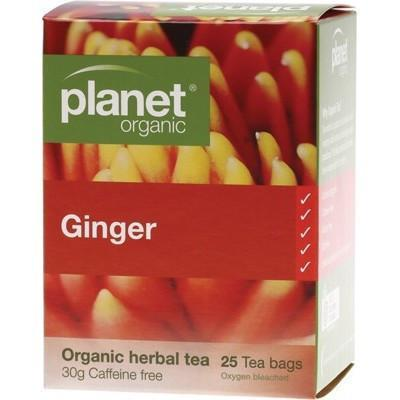 Ginger Tea Bags 25 bags - PLANET ORGANIC