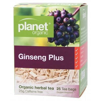 Ginseng Plus Tea Bags 25 bags - PLANET ORGANIC