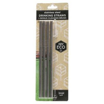 S/steel Straw - Straight x4