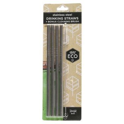 S/steel Straw - Straight x4 - EVER ECO