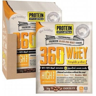 360 Whey Chocolate Sachets 12x30g - PROTEIN SUPPLIES AUST.