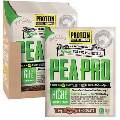 PeaPro Choc Sachets 12x30g - PROTEIN SUPPLIES AUST.