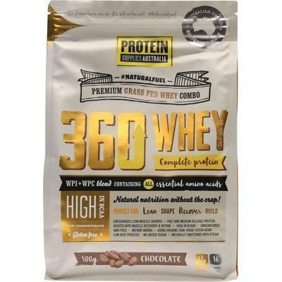360 Whey Chocolate 500g - PROTEIN SUPPLIES AUST.