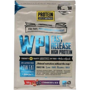 WPI Strawberry Acai 500g - PROTEIN SUPPLIES AUST.