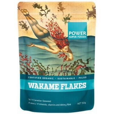 Wakame Flakes (Wild Canadian Seaweed) 50g - POWER SUPER FOODS