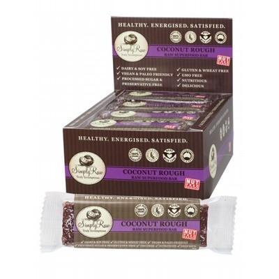 Coconut Rough Bar Raw Superfood 20 x 50g - SIMPLY RAW