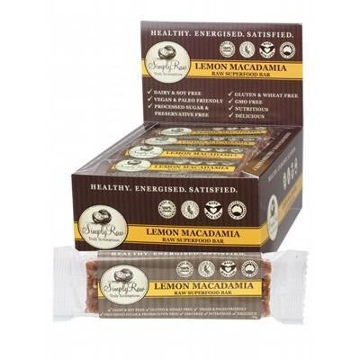 Lemon Macadamia Bar Raw Superfood 20 x 50g - SIMPLY RAW