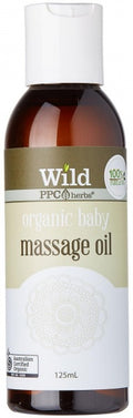 Wild Organic Baby Body Massage Oil 125ml New